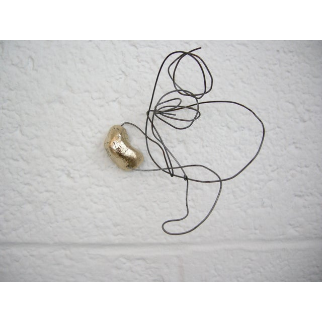 Abstract Wire Drawing No. 2 Wall Sculpture by Zuckerhosen For Sale - Image 3 of 3