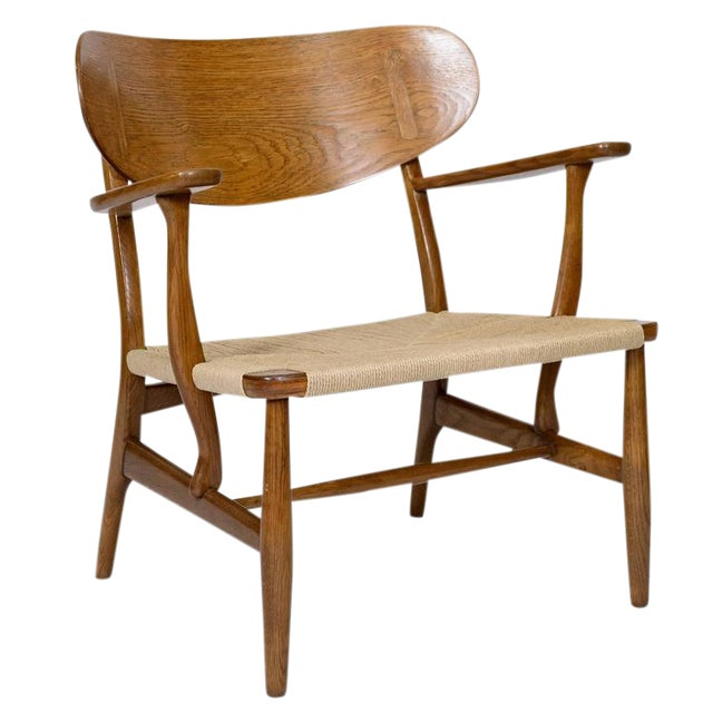 Hans Wegner CH-22 Lounge Chair For Sale