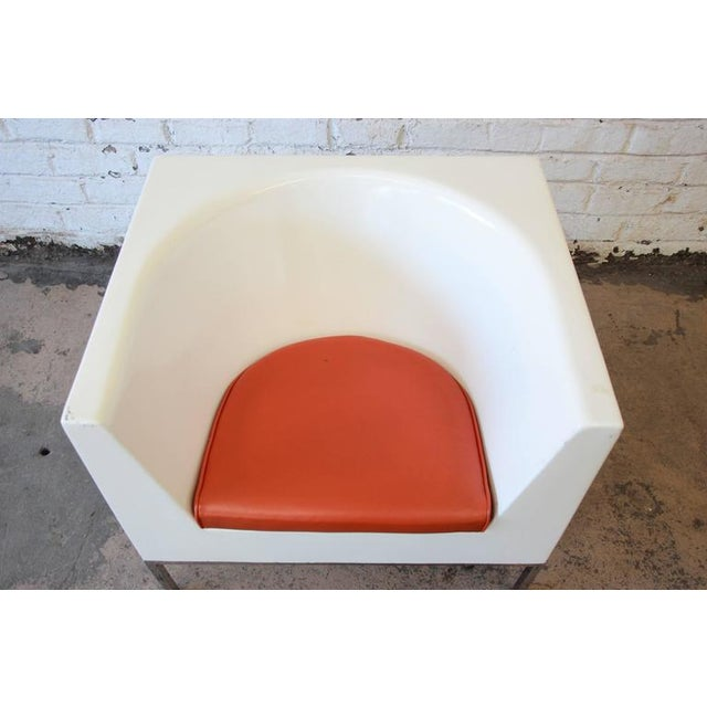 1970s Massimo Vignelli Style Plastic Cube Lounge Chairs, 1970s For Sale - Image 5 of 10