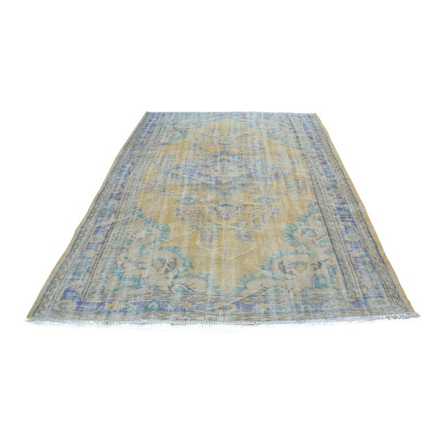 Oushak Area Bohemian Turkish Wool Rug - 6′4″ × 9′5″ - Image 1 of 6