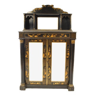English Regency Style Chinoiserie Design Small Sideboard For Sale