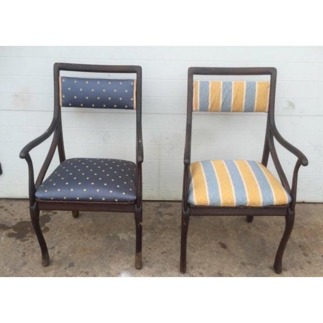 Art Nouveau Style Vintage Chairs - A Pair - Image 4 of 6