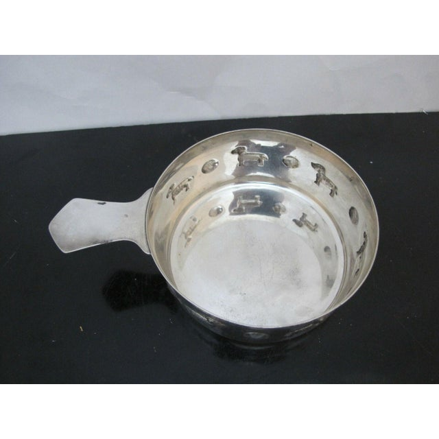 Tiffany & Co. Sterling Silver Baby Porringer Bowl with Dog & Ball Motif For Sale In Portland, OR - Image 6 of 7