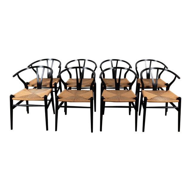 Danish Wishbone Back Dining Chairs- Set of 8 For Sale