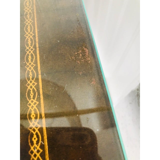 Gold Antique French Game Table With Leather Top From John Wanamaker For Sale - Image 8 of 11