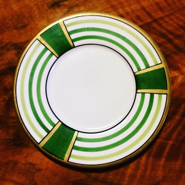 Art Deco Este' Ce Made in Italy Dipinto a Mano Porcelain Plate Hand Painted For Sale - Image 3 of 3