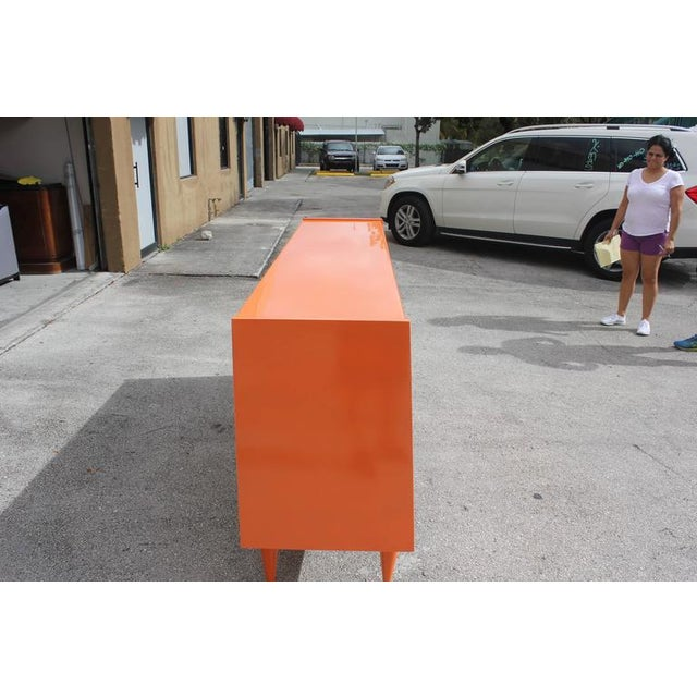 Art Deco Modern Orange Sideboard - Image 7 of 10