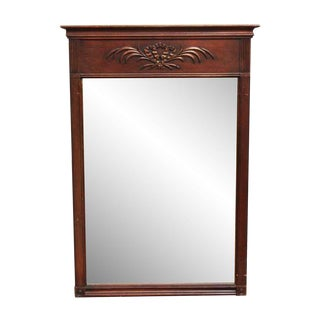 Federal Style Wooden Mirror For Sale