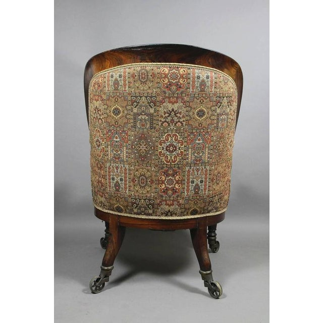 Grand William IV Rosewood Bergere Chair For Sale - Image 4 of 8