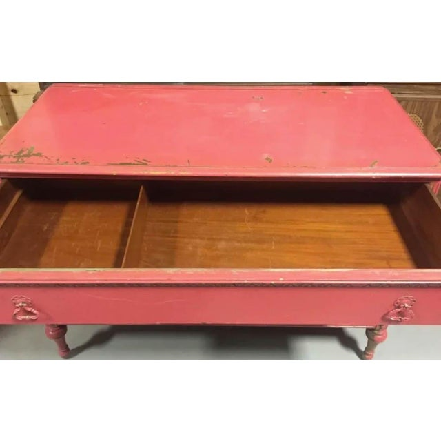 Mid 20th Century Berkey and Gay Pink Chest of Drawers, Dresser, Signed For Sale - Image 5 of 10