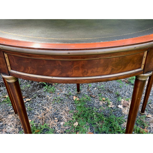 Crotch Mahogany Demilune Game Tables -A Pair For Sale In Philadelphia - Image 6 of 13