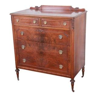 Early Widdicomb Burled Walnut Highboy Dresser, Circa 1920s For Sale