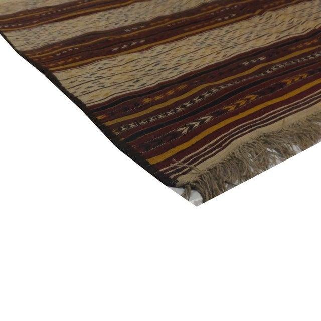 Islamic Leon Banilivi Persian Kilim Rug - 5′6″ × 11′7″ For Sale - Image 3 of 3