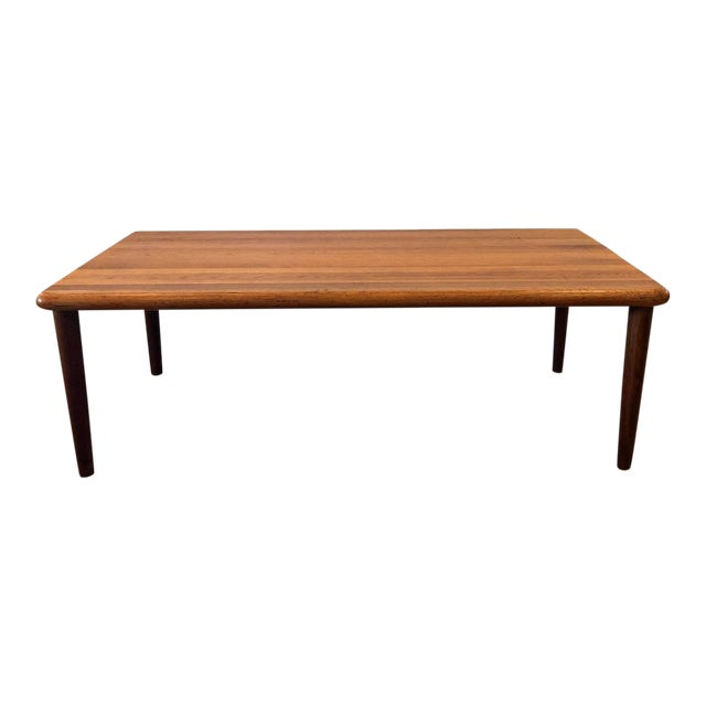 MCM Danish Glostrup Mobelfabric Solid Teak Cocktail Table For Sale