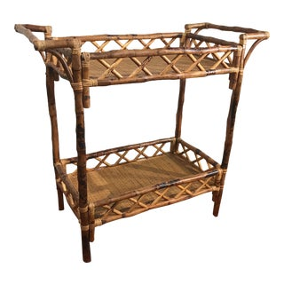 Bamboo & Rattan Beverage Stand
