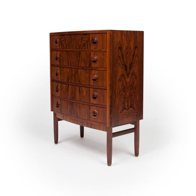 Danish Modern Vintage Rosewood Chest of Drawers by Kai Kristiansen 1960s For Sale - Image 3 of 9