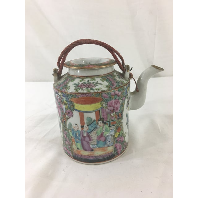 19th Century Rose Medallion Teapot For Sale - Image 6 of 6