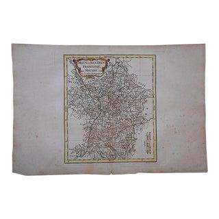 Antique 18th C. Map-France-Haut et Bas Rhin