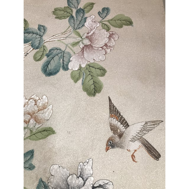 Gracie Chinoiserie 4 Panel Wallpaper Screen - Image 4 of 11