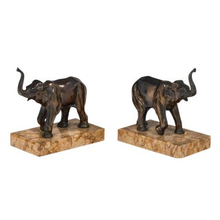 Art Deco Period Elephant Bookends - a pair For Sale