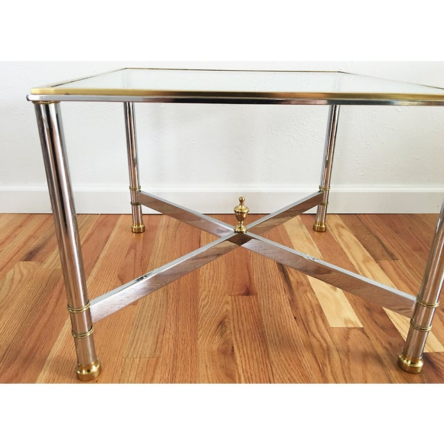 La Barge Brass Chrome & Glass Side Table - Image 4 of 6