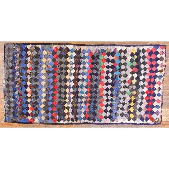 1990s Vintage Persian Handmade Kilim Rug - 4′8″ × 9′3″ For Sale - Image 5 of 5