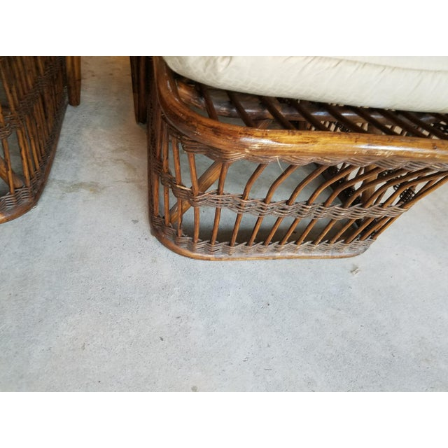 Rattan Vintage Wicker Rattan Chaise Lounges - A Pair For Sale - Image 7 of 9
