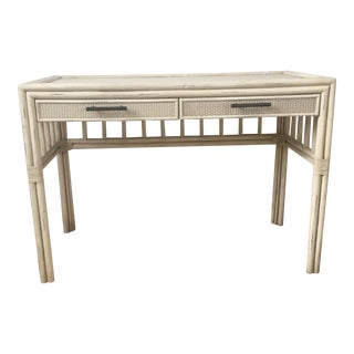 Vintage Rustic Bamboo Console Table