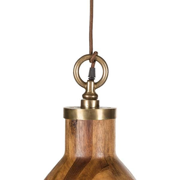 Contemporary Contemporary Wooden Big Sur Pendant Light For Sale - Image 3 of 6