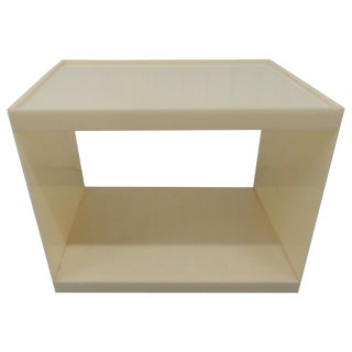 1990s Contemporary Custom Acrylic Side Table For Sale