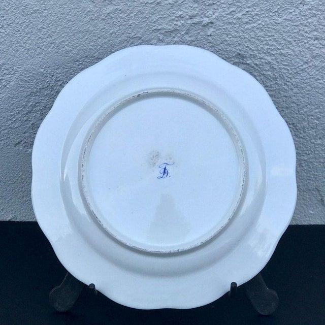 Three Antique European Naturalistic Porcelain Plates For Sale - Image 10 of 13