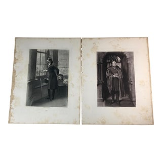 1892 Antique Characters From Thackeray's Novels Photogravure Prints - A Pair For Sale