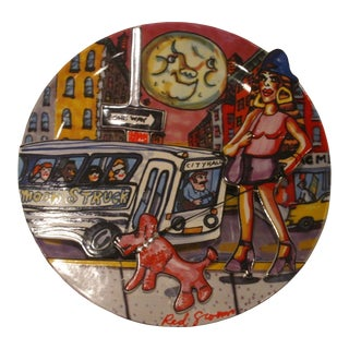 "Red Grooms ""Moonstruck"" Limited Edition Plate For Sale"
