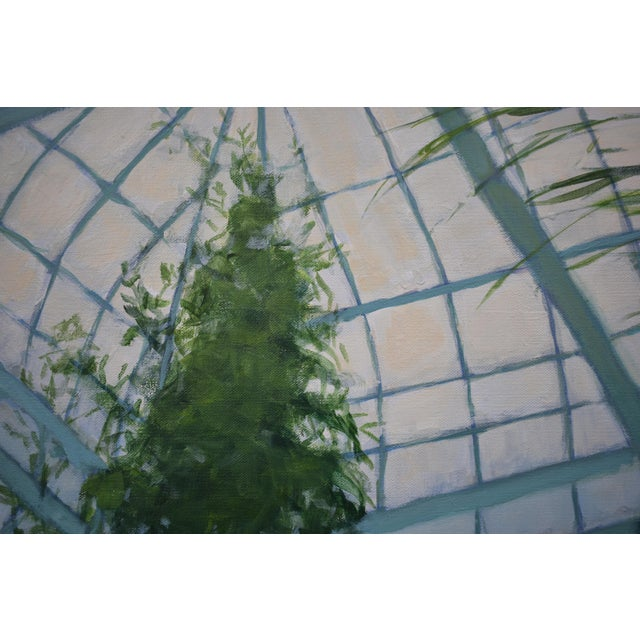 """2010s """"Greenhouse in Winter"""" Contemporary Painting by Stephen Remick For Sale - Image 5 of 11"""