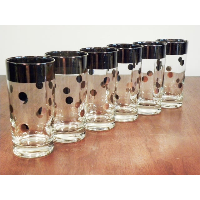 Dorothy Thorpe Silver Dot Tall Glasses - Set of 6 - Image 2 of 7