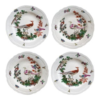 Set of 4 Decorative Hanging Bird Plates by Juwc 1897 For Sale