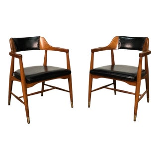 Jasper Chair Mid-Century Modern Open Arm Dining / Office Chair ~ a Pair For Sale