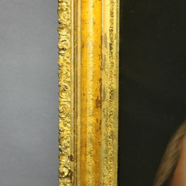Late 19th Century Late 19th Century Antique Italian Oil on Canvas Old Master of Del Sarto's John the Baptist Painting For Sale - Image 5 of 10