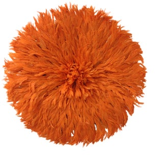 Authentic Tangerine Cameroon Juju Hat