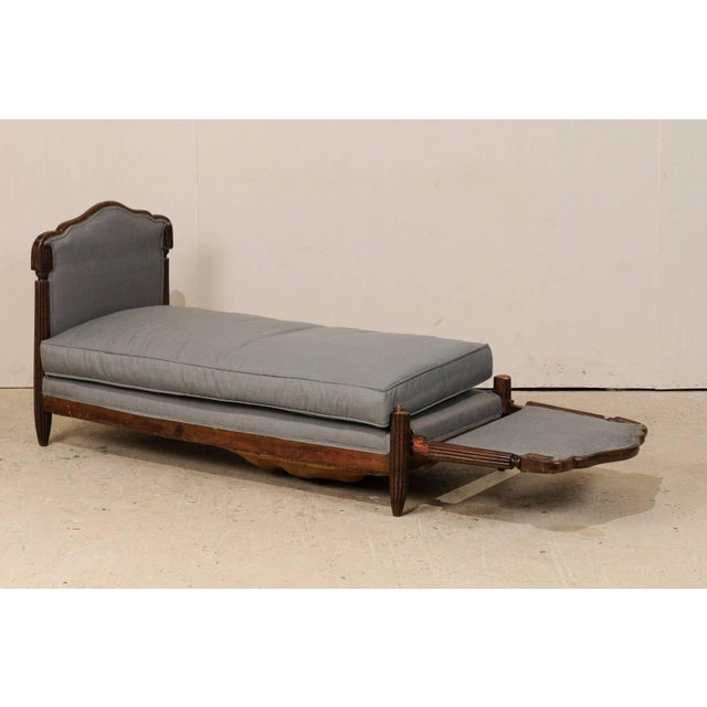 Gray Early 20th Century French Deco Style Lit De Jour or Daybed For Sale - Image 8 of 9