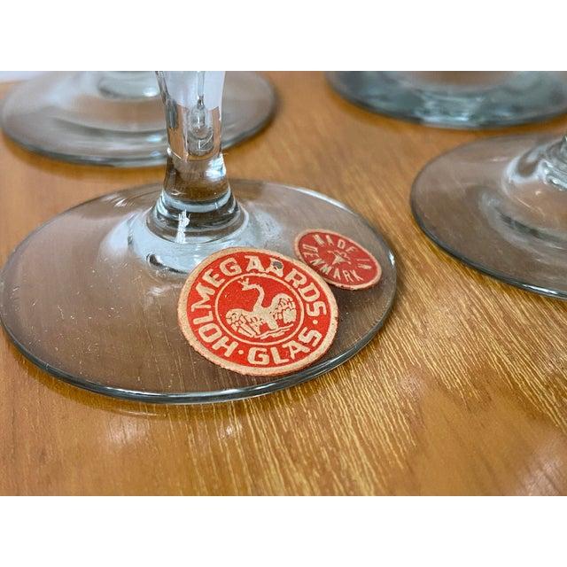 Vintage 1950s Holmegaard Denmark Elsinore Smoke Glass Cordials Stemware - Set of 8 For Sale In Tulsa - Image 6 of 10
