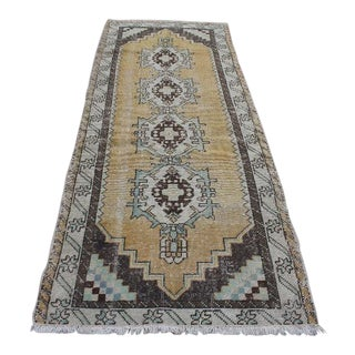 Vintage Anatolian Turkish Runner Wool Rug - 3′ × 8′2″