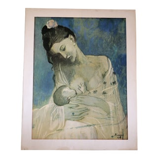Pablo Picasso Print Mother & Child Printed 1960's For Sale