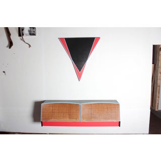 Abstract Edwin Ruda Inspired Floating Credenza and Wall Hanging Preview