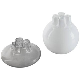 "Pair of ""Quattro Fori"" Vases by Flavio Barbini for Alfredo Barbini For Sale"