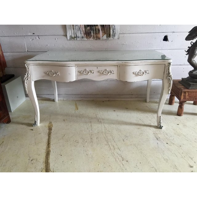 Brass Antique French Empire Desk For Sale - Image 7 of 7