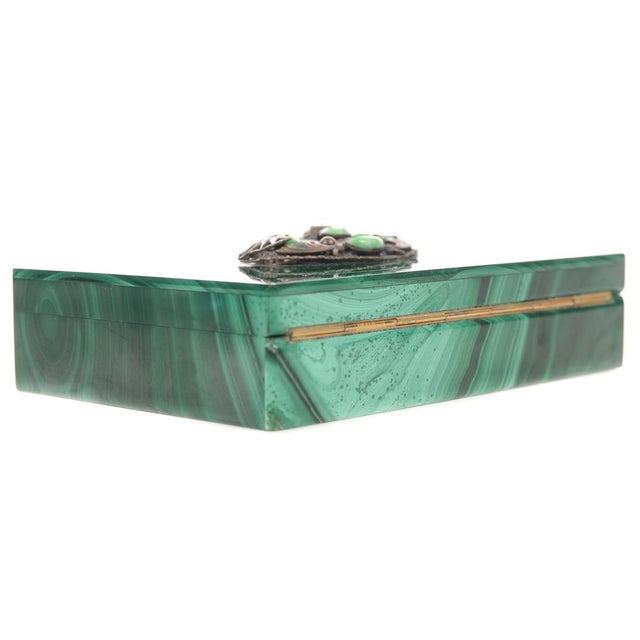 Malachite Box with Egyptian Emblem - Image 7 of 9