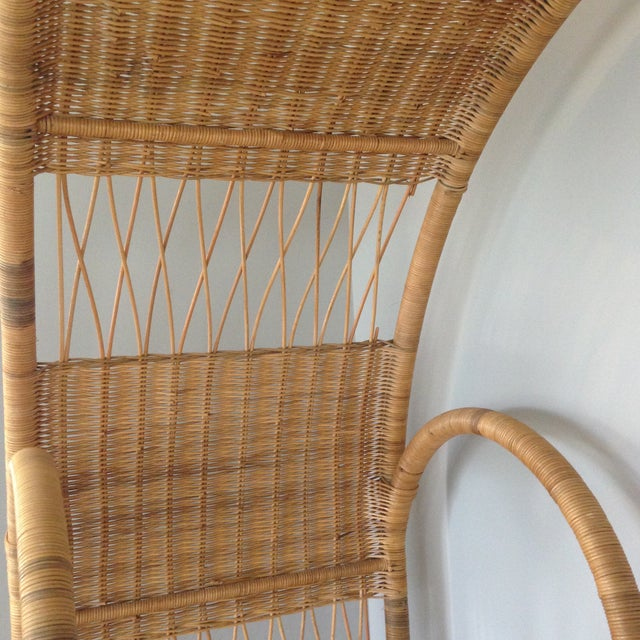 Mid-Century Rattan & Glass Etagere / Bookcase - Image 8 of 8