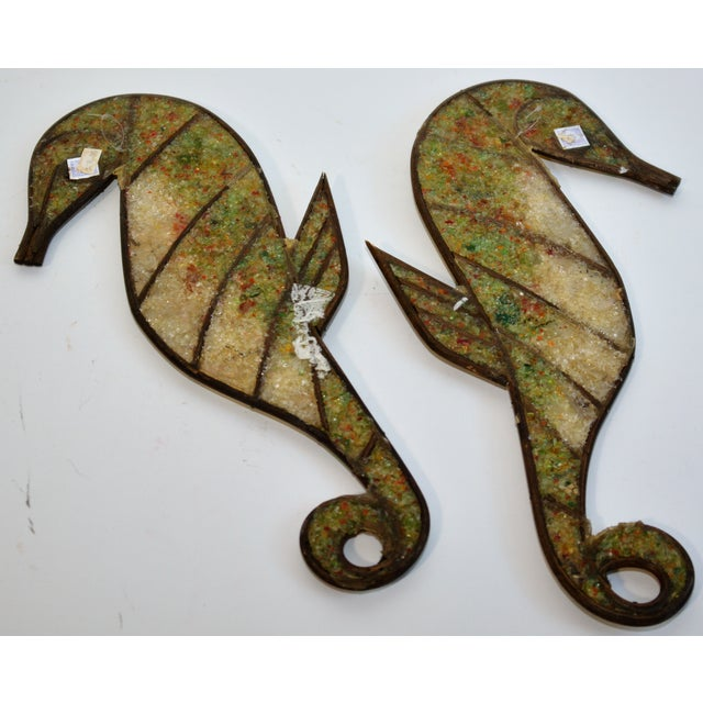 Mid-Century Modern Mid Century Seahorse Wall Hangings - a Pair For Sale - Image 3 of 4