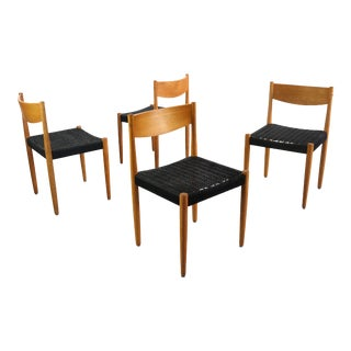 Set of 4 Poul Volther for Frem Rojle Danish Modern Dining Chairs For Sale